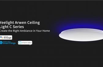 Le plafonnier connecté Yeelight Arwen Smart Led en promo à 105€ !